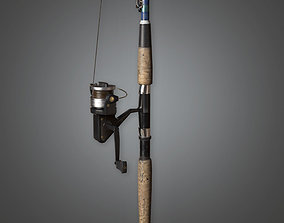 TLS - Fishing Pole - PBR Game Ready 3D asset low-poly
