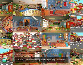 3D Asset - Cartoons - Background - Hight Poly