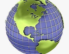 3D model Globe C