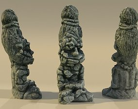 Ancient Statue Idol Sadhu 3D asset