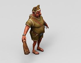 Hunter 3d game model low poly low-poly