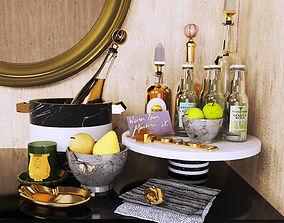 3D Decorative set Gourmet alcohol