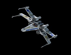 X-WING 3D model animated