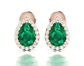 jewelry diamond Women earrings 3dm render detail