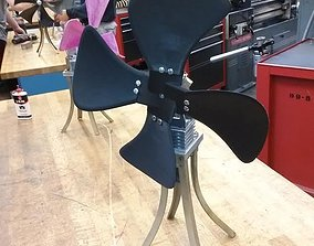 Fan Blades and Hub 3D printable model