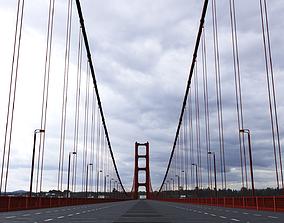 bridge Suspension Bridge 3D model