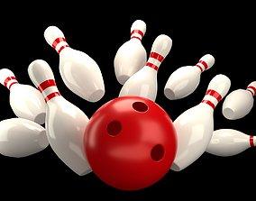 3D model low-poly Bowling