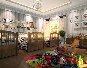 3D model Children amusement park 02