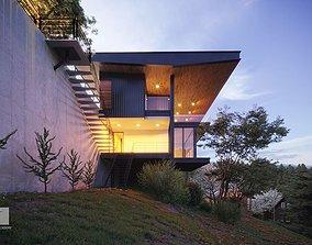 3D Exterior Villa Scene
