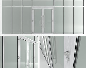 3D asset Glass fire doors and partitions Nayada