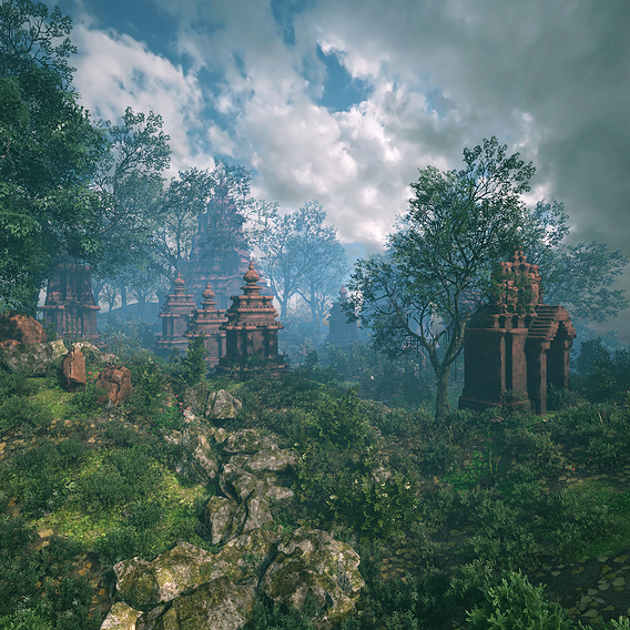 Ruin Ancient Temple - Khmer Architecture Pack A