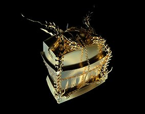 Dragon Treasure Chest 3D printable model