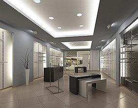 3D model Store interior scene Render Ready