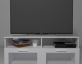 IKEA TV Stand Brimnes collection 3D model interior