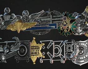 3D asset Badges Pack PBR