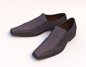 Man Leather Loafer Shoes 3D model