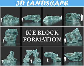 Low poly Ice Block Pack 200226 3D model