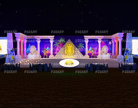 3D model Egypt event stage