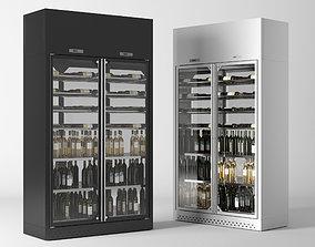Wine cooler enofrigio 2P 1p wall h260 P60 3D model