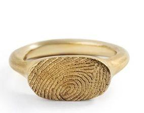 3D printable model Fingerprint ring 96