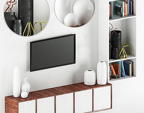 TV Wall 01 3D model