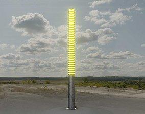 3D model Galvanized Light-Column -14- Street-Light 9