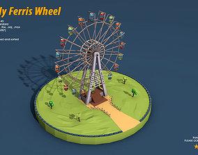 Ferris Wheel 3D asset