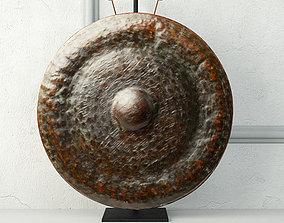 3D 19th Century Laos Bronze Gong 2