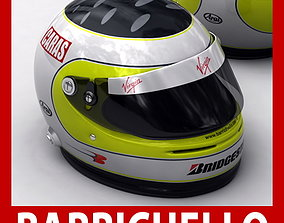3D Helmet F1 2009 Rubens Barrichello