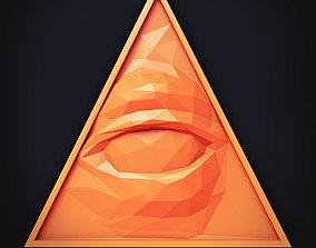 Illuminati Low Poly 3D model