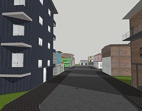 3D model Brazilian Style Buildings