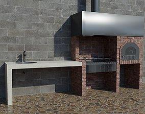 3D model summer Barbecue