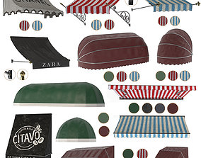 awning collection vol 05 3D model awnings