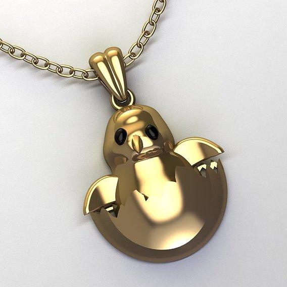 chick pendant for children