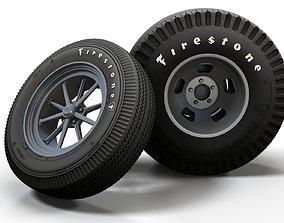 race Hot Rod Gasser wheels 3D