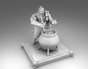 3D printable model The Orc chef