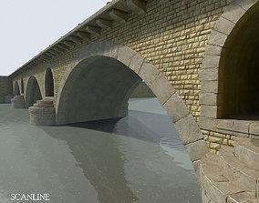 3D model Arched Stone bridge
