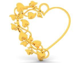 Heart pendant 12 3D printable model