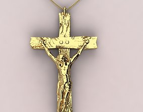 3D printable model Jesus with cross pendent