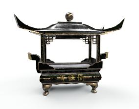 3D asset temple-square-censer