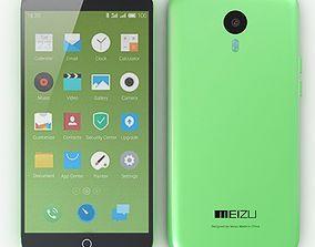3D Meizu M1 Note Green