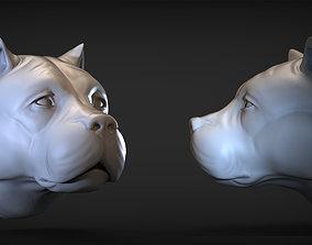 Pitbull Head 3D printable model