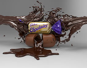 Chocolate toffy wrapper 3D model