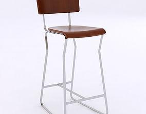 contemporary bar stool 3D model