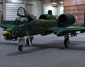 A-10 Thunderbolt II Studio Max obj 3D model