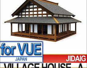 Japanese Village House Block A 3D