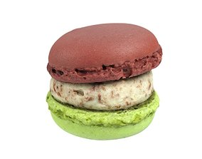 Photorealistic Macaron 3D Scan 2 biscuit