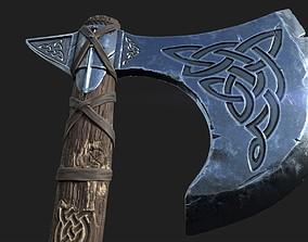 Viking axe 3D model PBR