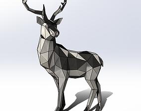 Polygon model Sheet metal Deer met 2000x1560x650mm 3D