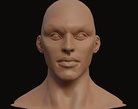 human 3D model Stylized Heroic Human Male Head
